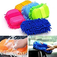 Improvhome Car Washing Sponge With Microfiber Washer Towel Duster For Cleaning Car. Bike Vehicle (Color May Vary) (1)