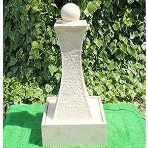 Fontaine pierre crème - 105 cm (boule tournante)