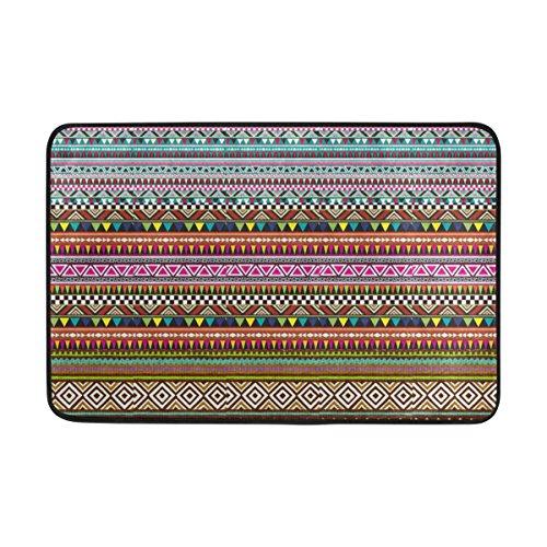 JSTEL Thai Stoff Muster-Fußmatte waschbar Garten Büro Fußmatte, Küche ESS-Living Badezimmer Pet Eintrag Teppiche mit Rutschfeste Unterseite