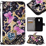 GHC-CASES-7 GHC Hüllen & Holster, für Motorola Moto G4 Play (2016), 3D Glitter Painted Design PU-Leder Folio Flip Case Wallet Stand Cover (Pattern : 4)