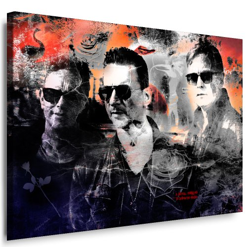 Fertige Mode (Kunstdruck Depeche Mode Bild Leinwandbild fertig auf Keilrahmen / Leinwandbilder, Wandbilder, Poster, Pop Art Gemälde, Kunst - Deko Bilder)
