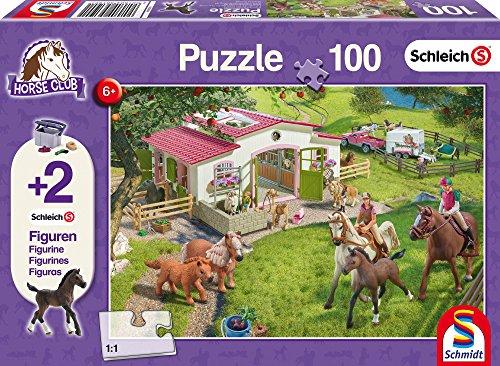 Schmidt Spiele Puzzle 56190 - Schleich Ausritt ins Grüne, 100 Teile