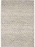 Benuta Outdoor Teppich Vora Zick Zack Beige 140x200 cm | Pflegeleichter Teppich geeignet für Innen- und Außenbreich, Balkon und Terrasse