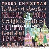 Mila Marquis Postkarte 140x140mm ~ Merry Christmas Fröhliche Weihnachten