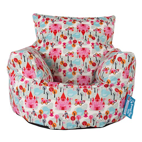 Lounge Pug, Kindersessel Sitzsack, Sitzsack Kinder, Druck Prinzessin
