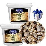 Lyra Pet Dog 2 x 600 g Strauß Softies im Eimer Hundeleckerli + Geschenk