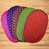 SHF Door Mats Cotton for Home and Office Set of 5 Piece 33x53 cm Multicolor