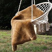 Pelle di pecora cappuccino corto tosato 90-100 cm
