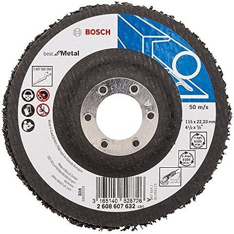 Bosch 2608607632 - Rettificatore ad angolo, disco di pulizia B.f.Metal, 115 mm