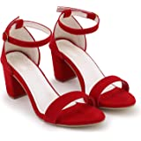 SHOFIEE Girl's Red Fashion Sandal - 40