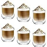 [6-Pack,250ml]DESIGN•MASTER-Première qualité - Verre isolant à double paroi, Tasse à café ou à thé, Verre thermo-isolant, Par