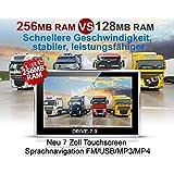 Dispositivo de navegación para camiones (Truck), automóviles, Bus, caravanas y Camper... Radar Warner, gratuita Map Update, toda Europa tarjeta (47Países) peligrosas, incluye Apertura de sol.