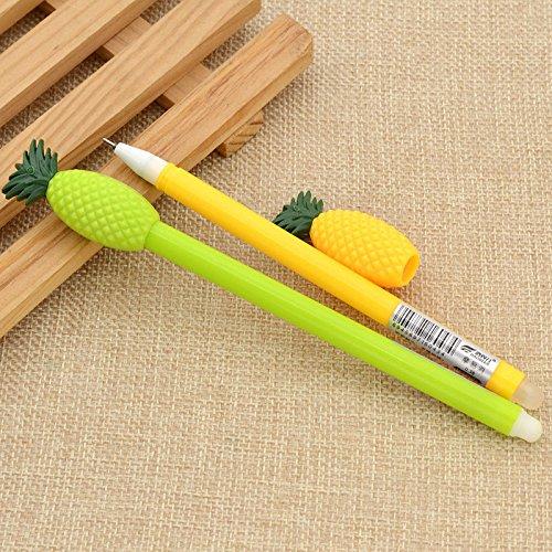 vipasnam-2PCS Cute Ananas Kugelschreiber Kinder Stationery Gel Stift Geschenke Farbe zufällige