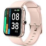 """YONMIG Smartwatch, 1.69"""" Táctil Completa Reloj Inteligente Impermeable 5ATM para Hombre Mujer con Alexa Integrad, Pulsera Act"""