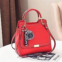 YTTY Mesdames Simple Mode Sac à Bandoulière Sac Diagonale en Métal Portable Seau Sac, rouge