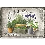 Nostalgic-Art 16599 Home & Country - Jardin Francais, Blechpostkarte 10x14 cm