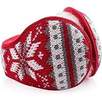 Secret Felicity Paraorecchie Pelosi Invernali Pieghevoli Unisex per uomo e donna EW1 Grande scalda orecchie in maglia con pelliccia