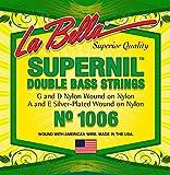 Labella L1006 Série Supernil Jeu de Cordes pour Contrebasse 3/4