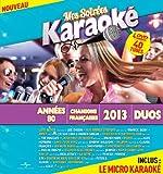 Coffret 4 DVD + Micro Mes Soirées Karaoké Années 80 Vol 5 + Chansons Françaises Vol 3 + 2013 Vol 1 + Duos