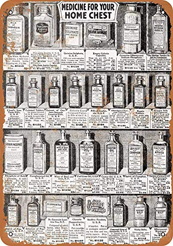 OURTrade 12 x 16 Tin Metal Sign - Vintage Look 1918 Sears Medicines -