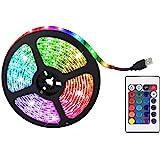 Led Strip Lights 5050 RGB Kleur Veranderende Tape Onder Kast Keukenverlichting, 0.5M 2M 5M RGB Dimbare TV Achterlicht met Afs