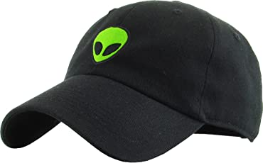 KBSV-028 BLK Alien Dad Hat Baseball Cap Polo Style Adjustable