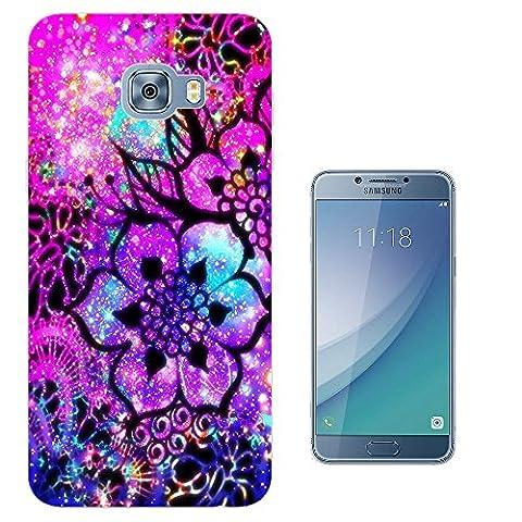 003372 - Psychedelic art floral fantasy Design Samsung Galaxy C5 Pro Fashion Trend Protecteur Coque Gel Rubber Silicone protection Case Coque