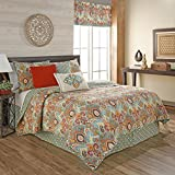 Waverly Boho Passage Reversible Quilt Collection, Twin, Fiesta