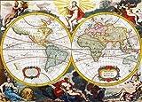Clementoni 34511 High Quality Collection - Puzzle (4000 piezas), diseño de cartografía antigua