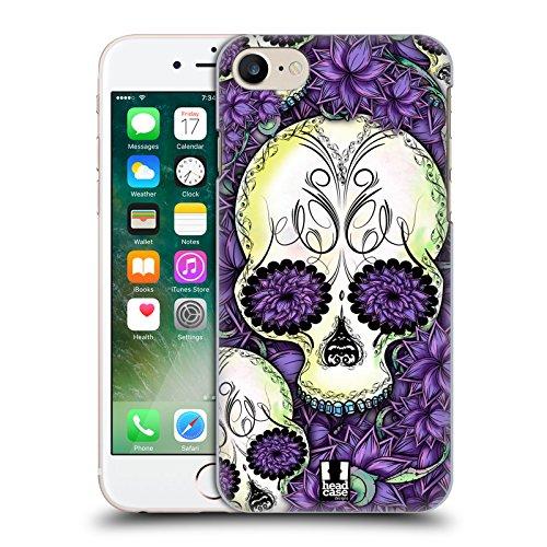 Head Case Designs Violetto Teschi Floreali Cover Retro Rigida per Apple iPhone 7 Plus / 8 Plus Violetto