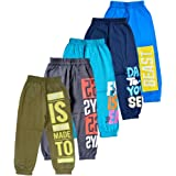 T2F Boy's Printed Track Pants (Pack of 5)