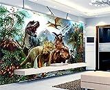 Weaeo Benutzerdefinierte Wandbild Tapete Zimmer 3D Fototapete Welt Dinosaurier Malerei Foto Bett Zimmer Sofa Tv Hintergrund Wand Vlies Aufkleber-120X100Cm