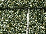 Fitzibiz Sweatstoff Jungle von Hilco, dunkelgrün (Stoff ab