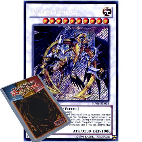 Yu-Gi-Oh!: HA06 EN023, 1. Vylon Omega Secret Rare-Karte (Hidden Arsenal Omega 6 Xyz Yu-Gi-Oh Einzelkarte
