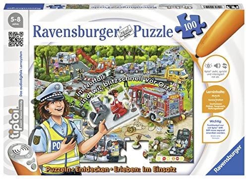 """Ravensburger tiptoi Puzzle """"Im Einsatz"""" – 00554 / Entdecken & Erleben: Abwechslungsreiches Motorikspiel für Kinder von 5-8 Jahre, 100 Teile"""