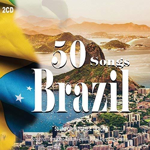2CD 50 Songs Brazil, Musica Brasiliana, Toquinho, Stan Getz, Elza Soares, Samba (Brasilianische Musik-cd)
