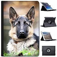 Fancy A Snuggle Gesunder Deutscher Schäferhund Hund Case Cover/Folio aus Kunstleder für Das Apple iPad Mini 1, 2, 3 und Retina