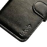 Labato Handytasche für iPhone 6 Plus und iPhone 6s Plus Tasche aus Echt Leder Bookstyle Hülle für i Phone 6 Plus/ 6s Plus schwarz Lbt-I6U-05Z10 -