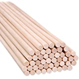 30 Pack 5mm Diameter, 20cm Long Craft Sticks for Craft Making Projects Wood Dowel Rods 30 Pcs