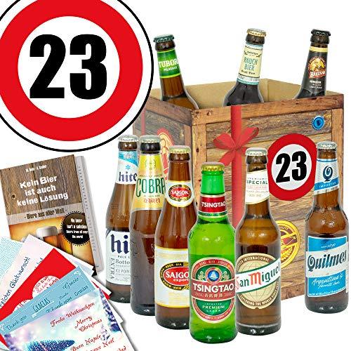 für Freund zum 23. | Bier Geschenk mit Biersorten der Welt ()