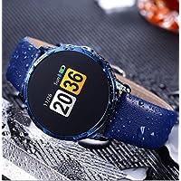 WZG Uhr Intelligente Armbanduhr, Smartwatch Armband Sport Mit Herzfrequenz/Kamera/Schrittzähler/Schlaftracker/Romte Capture Kompatibel Mit Android Ios Smartphone,Blue