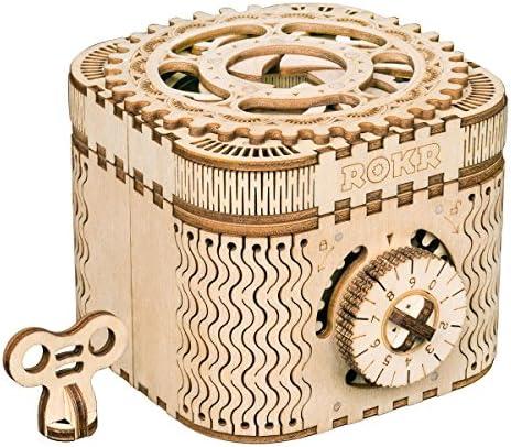 Robotime Mechanical Model Kits Kits Kits Treasure Box - Casse-tête en Bois découpé au Laser en 3D - Jouets Uniques pour  s - Cadeau d'anniversaire de Noël pour Les Filles   Attrayant De Mode  f57b47