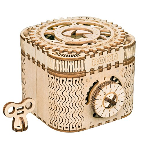 ROBOTIME Modelos mecánicos Kits Treasure Box - Puzzle