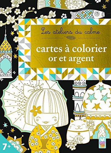 Cartes à colorier or et argent par Deux Coqs d'or