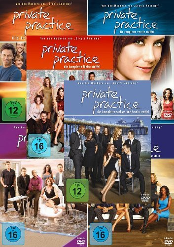 Private Practice - Die komplette 1. + 2. + 3. + 4. + 5. + 6. Staffel (30-Disc / 6-Boxen) - Mad 5 Dvd Tv-season