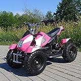 Miniquad Elektro Cobra Kinder 800 Watt ATV Pocket Quad Kinderquad Kinderfahrzeug pink/weiß