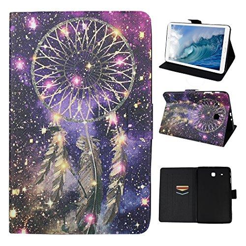 Asnlove Étui Galaxy Tab E 9.6 Pouces T560, Coque Tablette PU Cuir Housse Fente pour Carte Fermoir Magnétique Case Housse Étui Protection Pochette pour Samsung Galaxy Tab E 9.6 Pouces SM-T560 T561