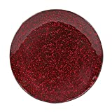 Aroma Accessories Kerzenteller 15cm 20cm Glas klar metallisch Hochzeitsdekoration - Rot, 15cm