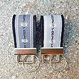 2 Schlüsselanhänger Duett Taschenanhänger Filz schwarz Webband Edelweiß grau weiß zur Tracht!