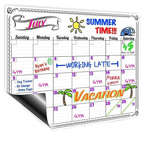Magnetische Kühlschrank Kalender Dry Erase Board Monatsplaner Kalender für Küche Kühlschrank 41,9x 30cm Stil zufällige